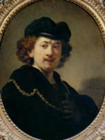 Self Portrait with Hat and Gold Chain, 1633 (oil o