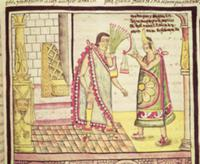 Fol.152v The Crowning of Montezuma II (1466-1520)