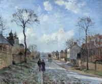 The Road to Louveciennes, 1872 (oil on canvas). Ar
