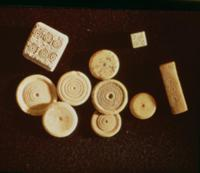 Counters and dice, Gallo-Roman, second half of fir