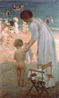 The Bathing Hour. Artist: Fox, Emmanuel Phillips (