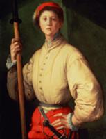 Portrait of a Halberdier (possibly Francesco Guard