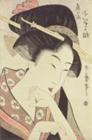 Bust portrait of the heroine Kioto of the Itoya. A