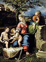 The Holy Family of the Oak Tree, c.1518 (oil on pa