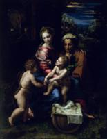 The Holy Family (La Perla) c.1518 (oil on panel).