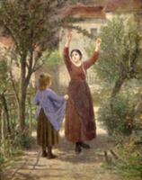 Picking Cherries. Artist: Seignac, Paul (1826-1904