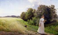 Lady in White Reading. Artist: Mundt, Emilie Carol