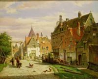 Man with a Wheelbarrow. Artist: Koekkoek, Willem (