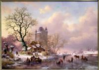 Winter Landscape with a Castle. Artist: Kruseman,