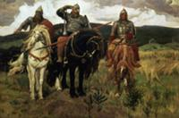 Epic Heroes (oil on canvas). Artist: Vasnetsov, Vi