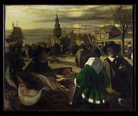 Market in the Hague, c.1660. Artist: Witte, Emanue