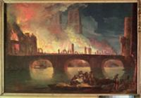 A Fire at the Hotel-Dieu in 1772 (oil on canvas).
