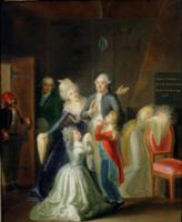 Farewell to Louis XVI by his Family in the Temple,