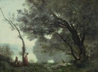Recollections of Mortefontaine, 1864 (oil on canva