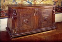 Walnut Sideboard, Lyonnais School (wood). Artist: