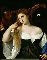 Portrait of a Woman at her Toilet, 1512-15 (oil on