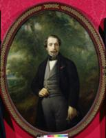 Portrait of Napoleon III (1808-73) c.1857 (oil on