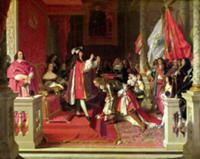 King Philip V (1683-1746) of Spain Making Marshal