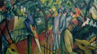 Zoological Garden I, 1912 (oil on canvas). Artist: