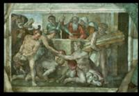 Sistine Chapel Ceiling: Noah After the Flood (pre