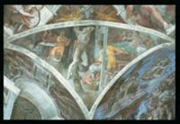 Sistine Chapel Ceiling: Haman (spandrel) (pre rest