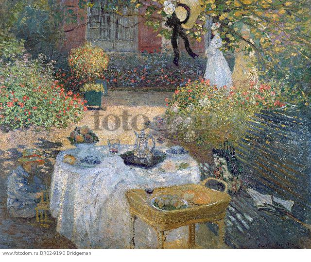 The Luncheon: Monet's garden at Argenteuil, c.1873 (oil on canvas) , artist: Monet, Claude (1840-1926)