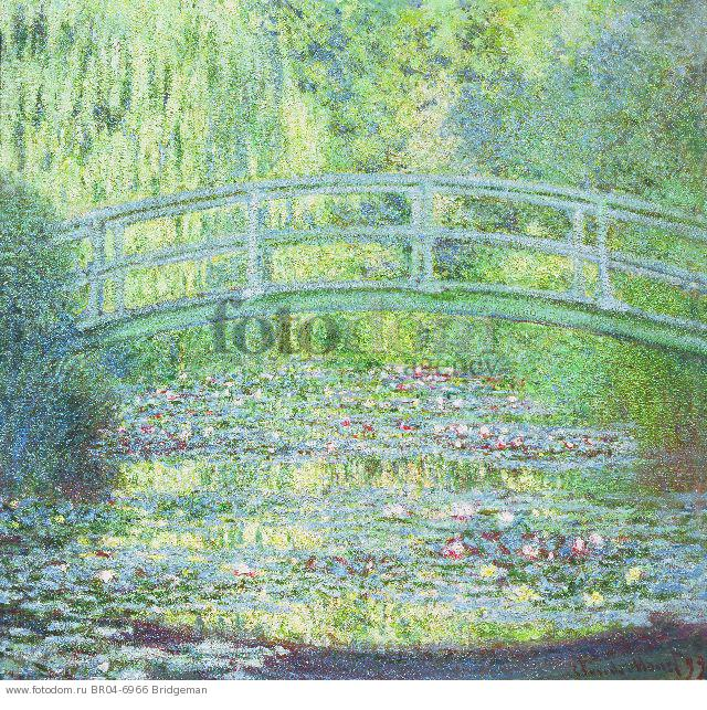 the painting of the japanese bridge by monet Water lilies and japanese bridge represents two of monet's greatest achievements: his gardens at giverny and the paintings they inspired monet moved to giverny in 1883 and immediately began to develop the property for him, the gardens were both a passion and a second artistic medium.