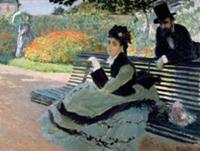 Madame Monet on a Garden Bench , artist: Monet, Cl