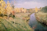 Golden Autumn, 1895 (oil on canvas) , artist: Levi