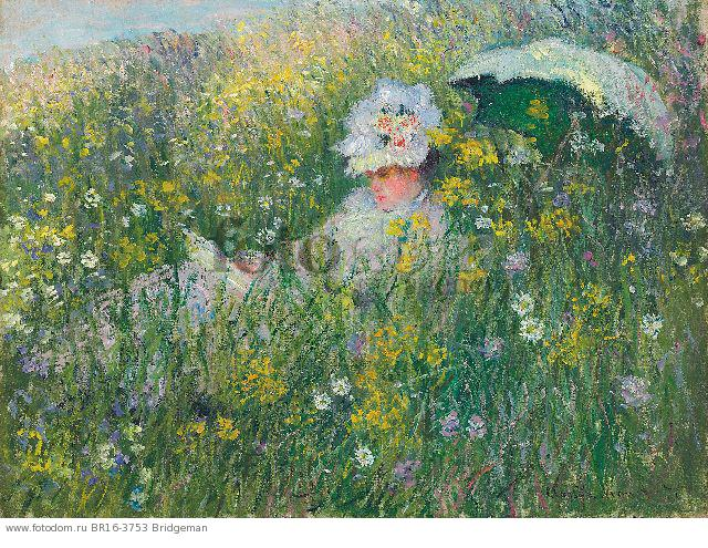 In the Meadow, 1876 (oil on canvas) , artist: Monet, Claude (1840-1926)