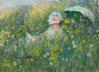 In the Meadow, 1876 (oil on canvas) , artist: Mone