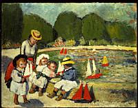 Les Tuileries, 1901 (oil on board) , artist: Picas
