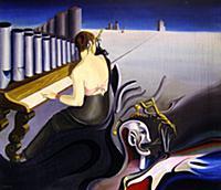 Le Piano, 1934 (oil on canvas) , artist: Dominguez