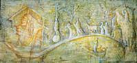 A Winter Fairy Tale (oil on board) , artist: Carri