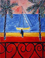 Old Man by the Sea, 1991 (oil on canvas) , artist: