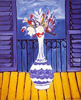 Chardins Flowers, 1990 (oil on canvas) , artist: E