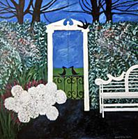 Much Ado About Nothing, 1990 (oil on two panels) ,