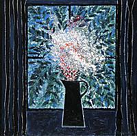 Luscious Leaves, 1991 (oil on wood) , artist: Edwa