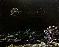 Dark Landscape, 1923 (oil on board) , artist: Erns