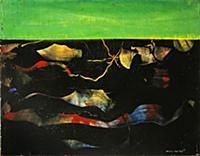 A la Derive, 1960 (oil on panel) , artist: Ernst,