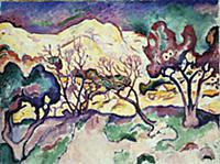 L'Estaque Landscape, 1906 (oil on canvas) , artist