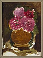 Vase of Roses, 1960 (oil on canvas) , artist: Braq
