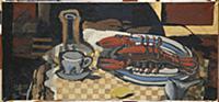 Still Life with Lobster, 1943 (oil on canvas) , ar