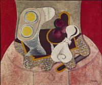 The Pink Tablecloth, 1931 (oil & sand on canvas) ,