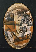 Still Life, 1913 (oil on canvas) , artist: Braque,