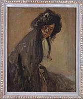 La Giuseppina Leaning Against a Chaise Longue, c.1
