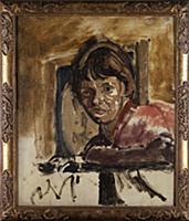 Portrait of Cicely Hey, c.1922-23 (oil on canvas)