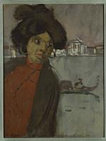 Inez on the Zattere (oil on panel) , artist: Sicke