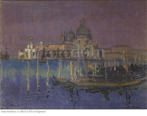 Nocturne: The Dogana and Santa Maria della Salute, Venice, 1896 (oil on canvas) , artist: Sickert, Walter Richard (1860-1942)