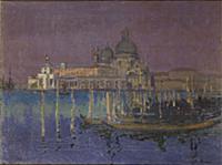Nocturne: The Dogana and Santa Maria della Salute,